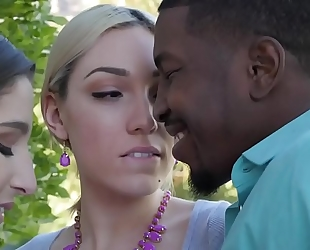 Interracial trio with lily labeau and abella danger