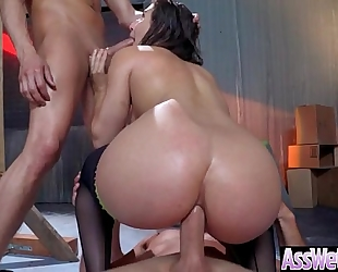 Curvy large wazoo white wife (abella danger) have a fun hardcore anal sex act movie-02