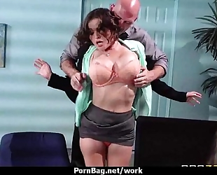 Hot lustful executive honey massaged and drilled hard in office 13