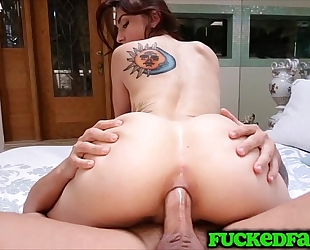 Mandy muse wishes to save cum-hole for bf and takes it up the backdoor