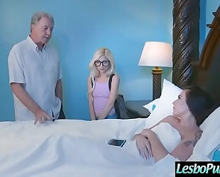 Horny hawt lesbian babes (piper perri & kharlie stone) in hard castigate sex tape video-27