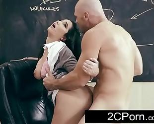 Busty dark brown student karlee grey craves her teacher