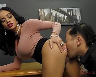 Victoria enslaves her co-worker - victoria june- femdom