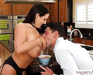 Aussie angela white's large love melons receive milky - nasty ameirca