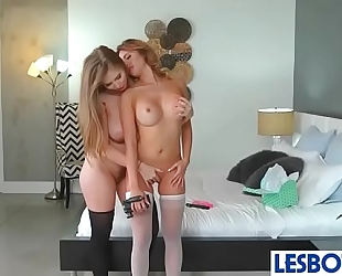 Lena paul & quinn wilde lustful golden-haired teens play in lez sex scene