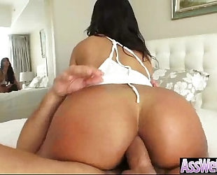 Anal hard intercorse on webcam with pretty large round booty oiled slutty wife (rose monroe) video-28