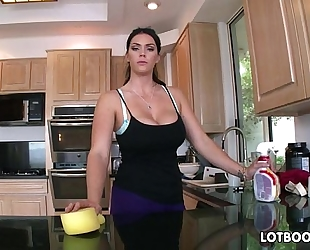 Big butt brunette hair breasty maid alison tyler acquires screwed