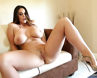Alison tyler plays with her cum-hole
