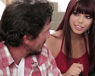 Step daughter makes sextape with her daddy - gina valentina and tommy gunn