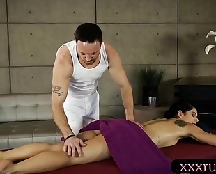 Gina valentina smashed by her masseur