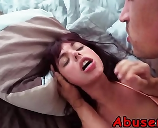 Teen gina valentina receives roughly stuffed with schlong