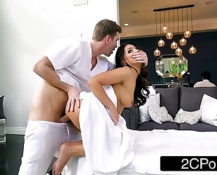 Sneaky slutwife adriana chechik letting masseuse fuck her in the a-hole