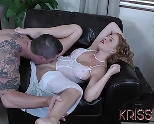 Krissy lynn woken and drilled by her kinky neighbour