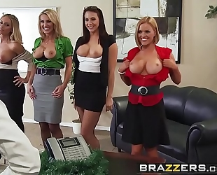 Brazzers.com - large titties at work - office 4-play christmas edition scene starring chanel preston krissy l