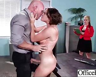 Slut white wife (krissy lynn) with large melon bra buddies team-fucked in office clip-24