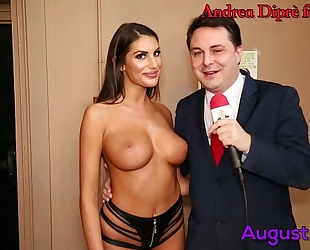 August ames gives a irrumation lesson for andrea diprè
