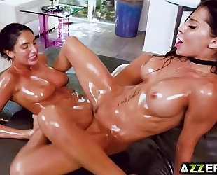 Lesbian fuck massage with august and madison