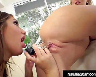 Fit lesbo hotties natalia starr & august ames service clits!