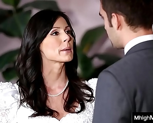 Stepmom getting screwed by son in advance of the wedding