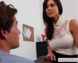 Office milf kendra craving acquires drilled on the desk